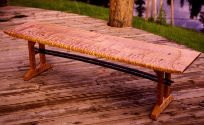 Curly_maple_bench